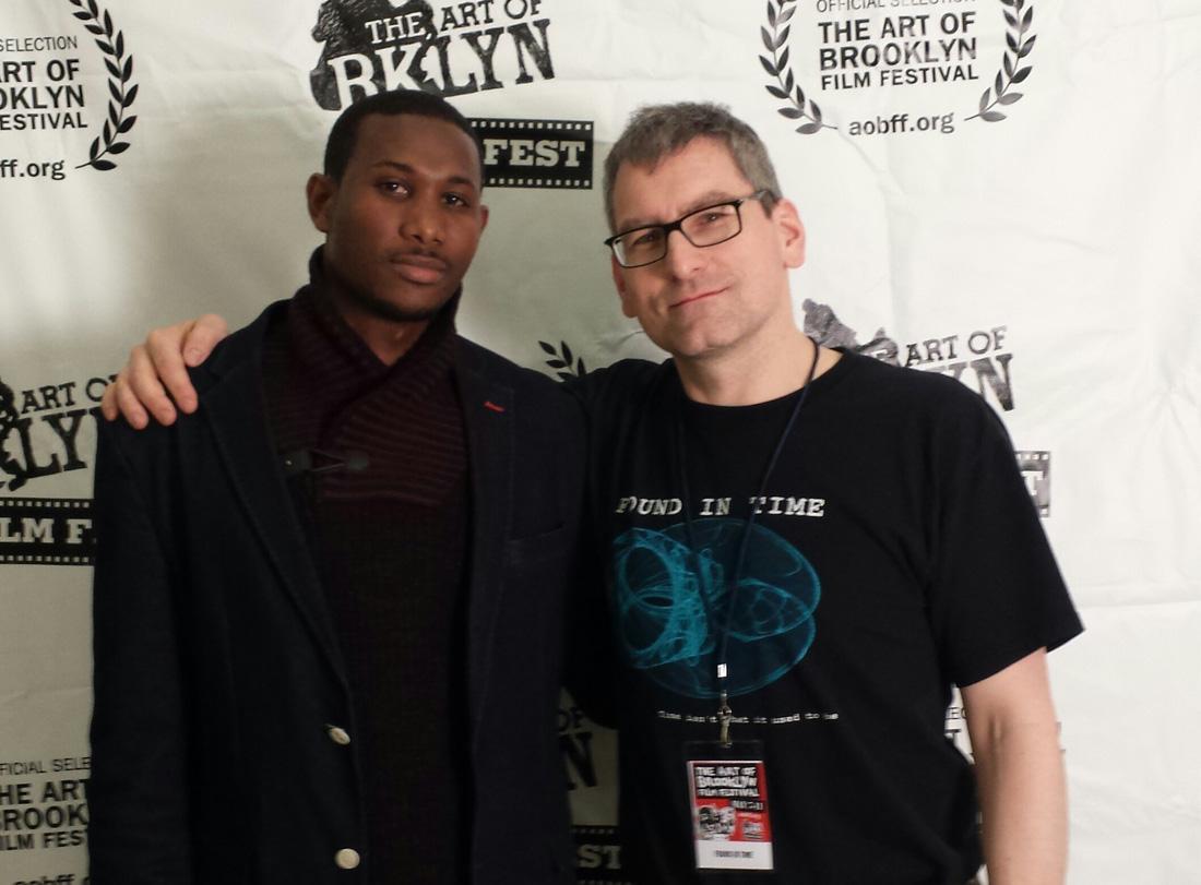 Filmmaker Abdullai Jalloh and director Arthur Vincie