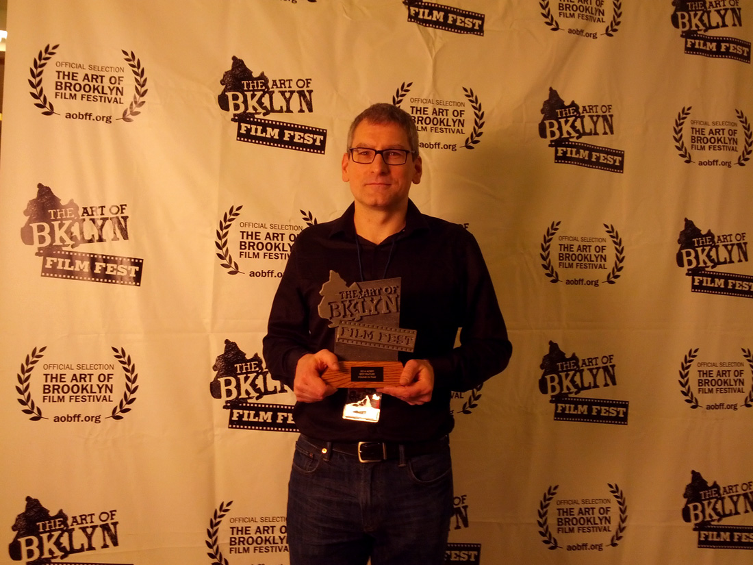 Director Arthur Vincie w/trophy